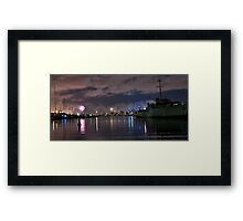 Williamstown at night  Framed Print