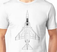 McDonnell Douglas F-4 Phantom II Blueprint Unisex T-Shirt