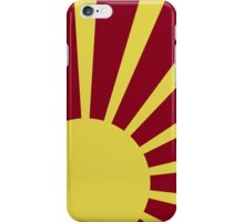 Sunburst (Yellow on Red) iPhone Case/Skin