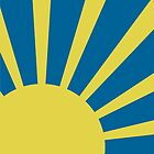 Sunburst (Yellow on Blue) by Peter Fedewa