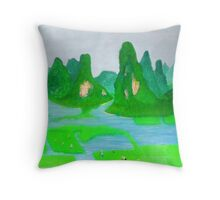 The Rice Grows Freely Throw Pillow