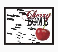 cherry bomb STICKER Kids Tee