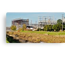 Construction of the New 49ers Stadium Canvas Print
