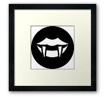 Vampire Fangs Ideology Framed Print