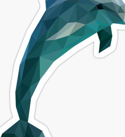 Low Poly Dolphin Sticker