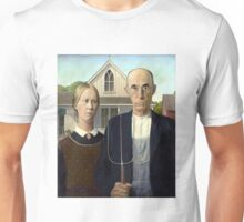 Iconic American Gothic by Grant Wood Unisex T-Shirt