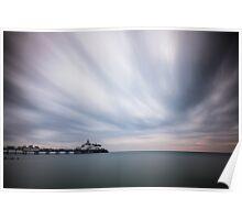 Eastbourne pier - 10minute exposure Poster