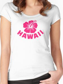 Hawaii hibiscus Women's Fitted Scoop T-Shirt