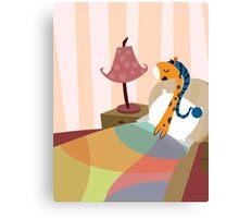 Sleepy Orange Canvas Print