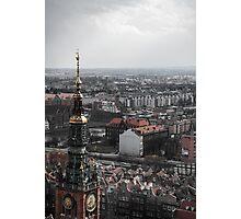 Gdansk skyline, Poland Photographic Print