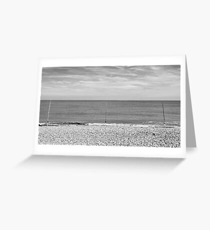 The North Sea,East Coast - A View  Greeting Card