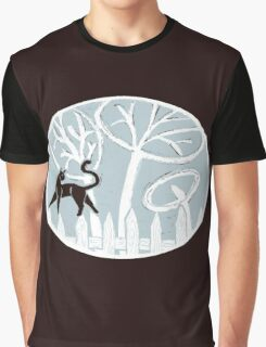 Cat on a Fence Graphic T-Shirt
