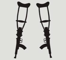 AK47 Crutches  by BungleThreads