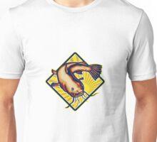 Catfish Mud Cat Polliwog Jumping Retro Unisex T-Shirt