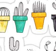 colorful cacti Sticker