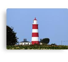 Happisburgh Lighthouse Norfolk (2) Canvas Print