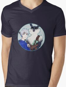 Rise of the Guardians - Jack Frost and Bunnymund the Easter Bunny Mens V-Neck T-Shirt