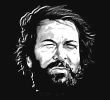 bud spencer t-shirt on dark by parko