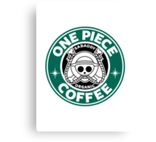 One Piece Coffee Canvas Print