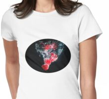 Raspberry Splash Womens Fitted T-Shirt
