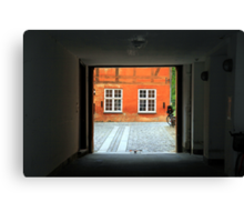 Tranquil Courtyard Canvas Print
