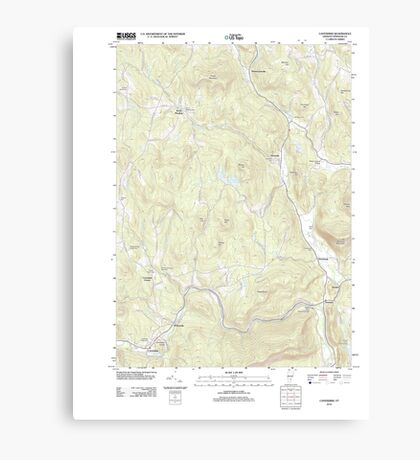 USGS Topo Map  Vermont VT Cavendish 20120507 TM Canvas Print