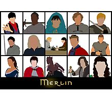 Characters Of Merlin Photographic Print