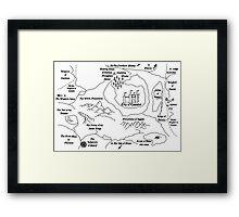 Map Of Camelot (B) Framed Print
