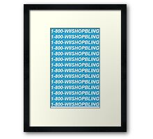 Wii Shop Bling Framed Print