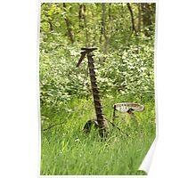 Antique Grass Cutter in a Field Poster