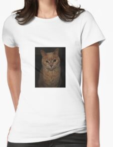 Chubby The Cat Womens Fitted T-Shirt