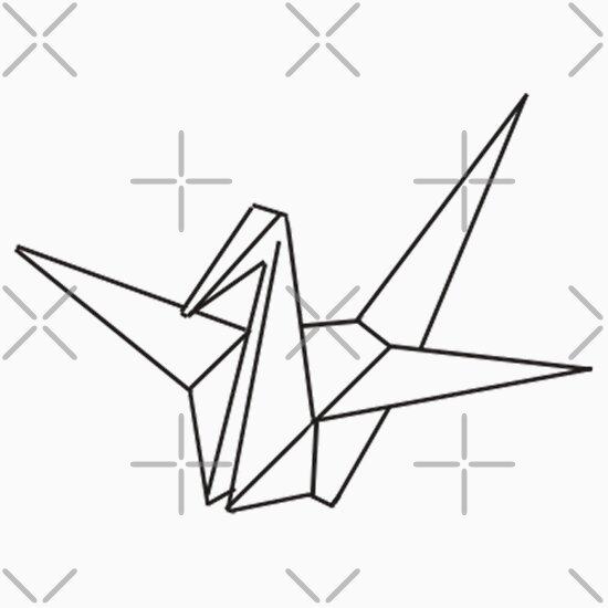 origami crane outline