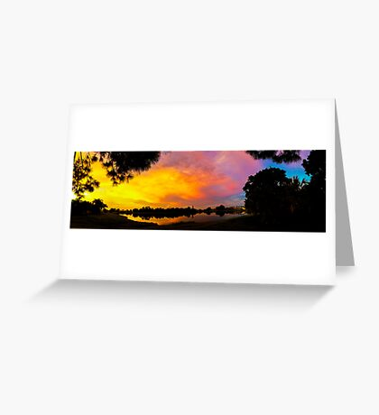 Sunset over Lake Zapper Greeting Card