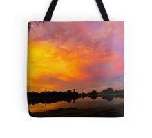 Sunset over Lake Zapper Tote Bag
