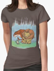 Lion, tiger & kitty. Womens Fitted T-Shirt