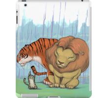 Lion, tiger & kitty. iPad Case/Skin