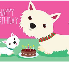 Birthday cake and Westies by BonniePortraits