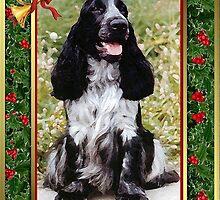 English Cocker Spaniel Dog Christmas by Oldetimemercan