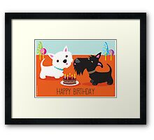 Happy Birthday from the Terriers Framed Print