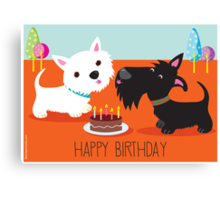 Happy Birthday from the Terriers Canvas Print