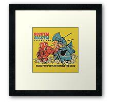 ROCK 'EM, SOCK 'EM JAEGERS Framed Print