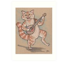 That Mewsician Plays Purrty Good! Art Print