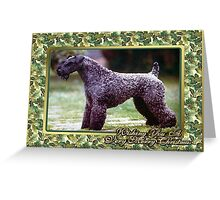 Kerry Blue Terrier Dog Christmas Greeting Card
