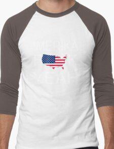 'Merica Fuck Yeah Men's Baseball ¾ T-Shirt