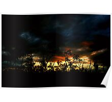 Valley of Lagoons Sunset Poster