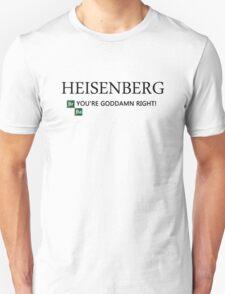 Breaking Bad - T-Shirt - Heisenberg. T-Shirt
