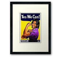 Recovery.gov Michelle Obama as Rosie The Riveter Framed Print