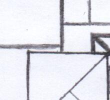 Squares Pencil Sketch Sticker