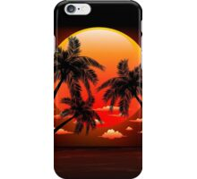 Warm Topical Sunset with Palm Trees iPhone Case/Skin