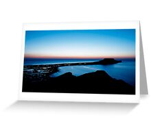 Worms Head at Sunset - Gower, Swansea Greeting Card